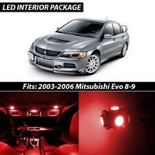 2003-2006 Mitsubishi Lancer Evolution 8 9 Red Interior LED Lights Package Kit