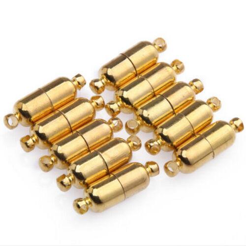 Gold überzogene ovale Magnetverschlussverbinder für dieDBSD 10 Sätze Silber
