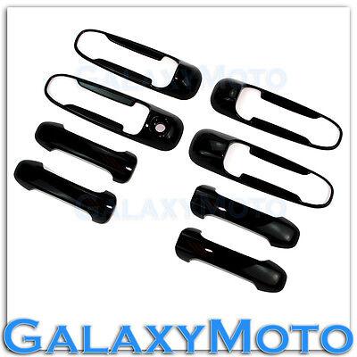 02-08 Dodge Ram Gloss Shiny Black 4 Door Handle W/O Passenger Keyhole Cover
