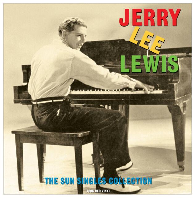 JERRY Lee Lewis-IL SOLE singles collection (180g ROSSO VINILE LP) nuovi/sigillati