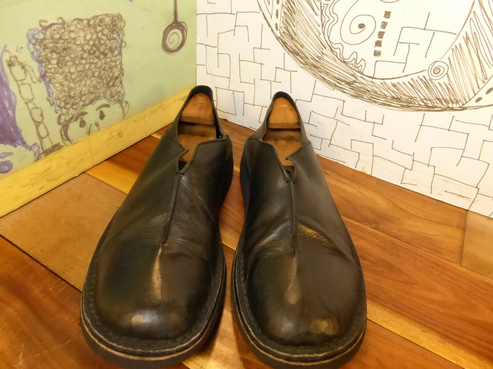 Pliner Black Leather in Loafers Men's 12M Made in Leather Italy Soft Leather fd4ec1