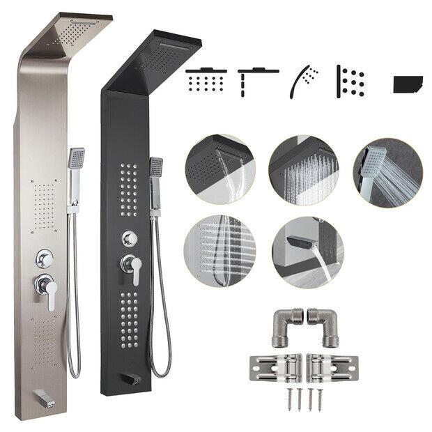 Pannello doccia idromassaggio colonna in acciaio inossidabile con miscelatore