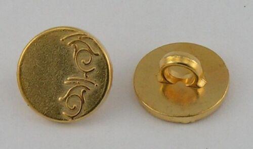 10 Metallknöpfe Knöpfe 12mm gold 07.32//18g Ösenknöpfe
