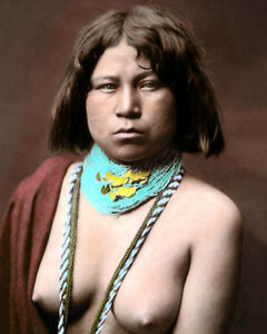 MOJAVE-NATIVE-AMERICAN-INDIAN-WOMAN-8x10-034-HAND-COLOR-TINTED-PHOTOGRAPH