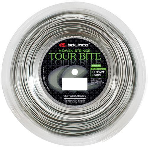 Solinco Tour Bite 17G 1.20mm (silver) 656ft 200m Tennis String Reel