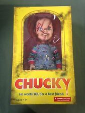 Sideshow Collectibles 15 inch Chucky Doll Bride of Chucky Scarred Face w/ Knife