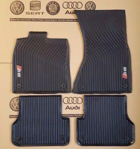 Audi-A6-4G-original-S6-Fussmatten-Gummimatten-vorne-hinten-Gummifussmatten-C7