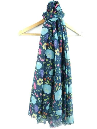 COLOURFUL FLORAL FLOWER PRINT SOFT SUMMER SCARF 4 COLOURS