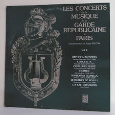 "33T CONCERTS MUSIQUE GARDE REPUBLICAINE PARIS Vinyle LP 12"" R. BOUTRY OFFENBACH"
