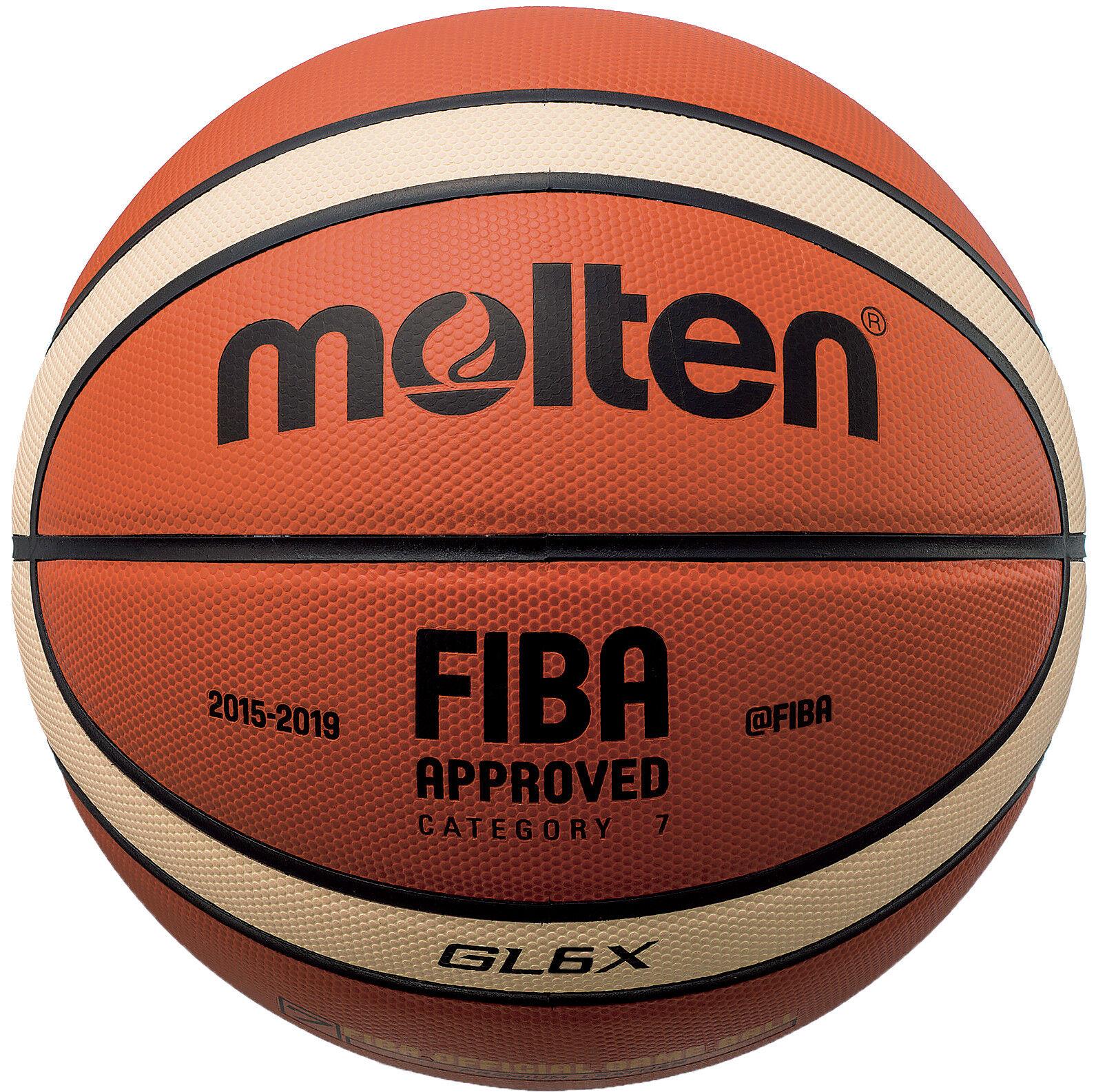 Molten baloncesto GL6X Cuero FIBA oficial mujer juego tamaño de la bola  6 - 28.5