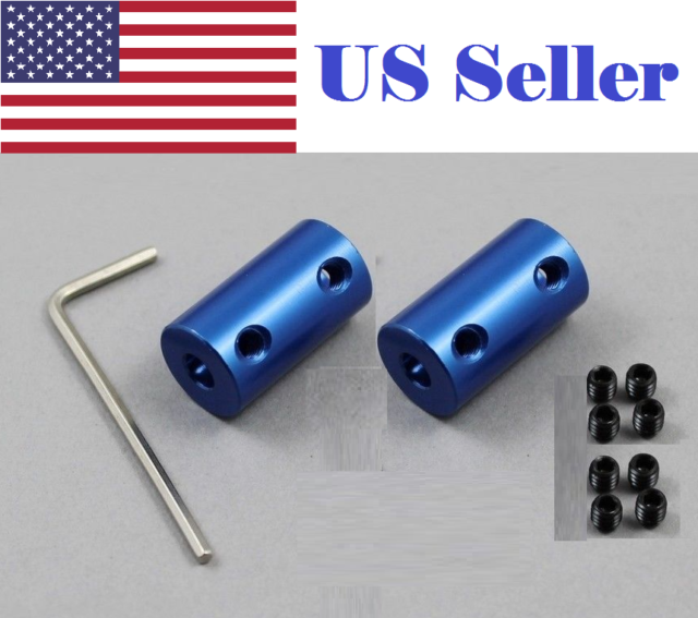 5 Pcs Flexible Shaft Couplings Flexible Motor Shaft Coupler Connector Joint 5mm*8mm*25mm for 3D Printe