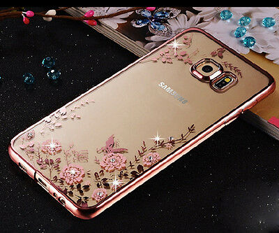 Fashion 3D Bling Strass Patterned Back Silicone Gel Rubber Lot Case Cover Bumper