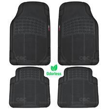 Motor Trend Safe & Clean Rubber Floor Mat Set of 4 Black Odorless BPA-Free