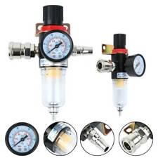 Air Compressor Filter Water Separator Trap Tools Kit With Regulator Gauge 14