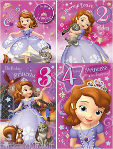 Disney Junior Sofia The First Happy Birthday Greeting Card Princess
