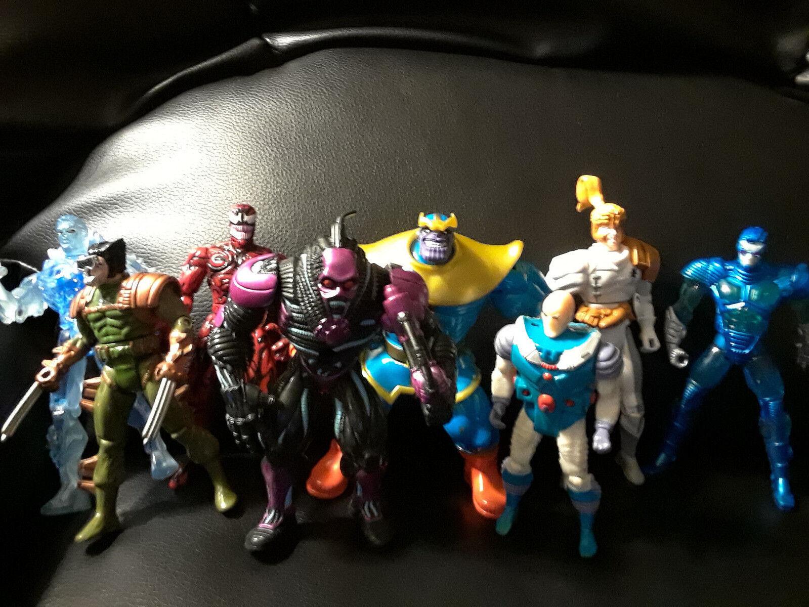 Marvel '90's Lot Figurines Figurines Figurines Toy Biz Thanos Xmen Iceman Mr. Freeze X Pro Shatter 0d1e94