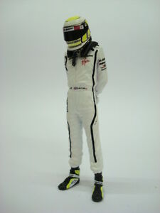1/18 Figure Ref 57d Bouton Janson F1 Champion du Monde Brawn Pilote Figurino Pilota