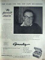 Rare Original 1958 'GRUNDIG' Tape Recorders Advert: Peter Sellars Photo Print AD