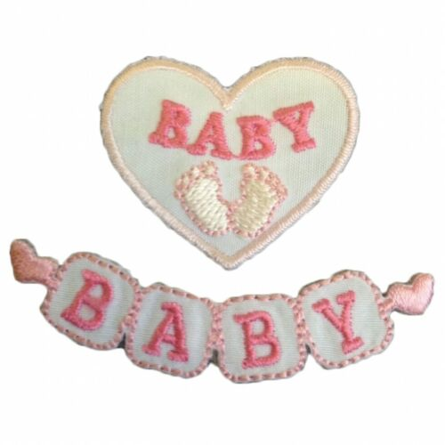 Craft Factory Patch Motif Baby Blocks Pink