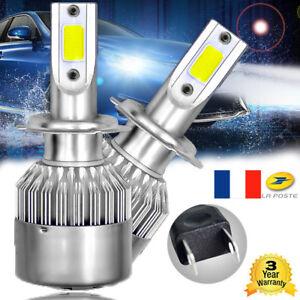 2X-H7-LED-Phare-Phare-de-voiture-Ampoule-Remplacer-l-039-ampoule-55W-Blanc-6000K