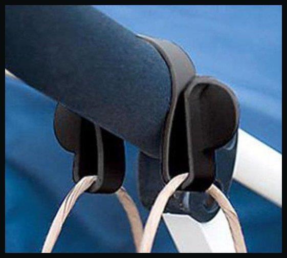 2Pcs Buggy Clip Pram Pushchair Stroller Side Hook Baby Handle Shopping Bag w// LL