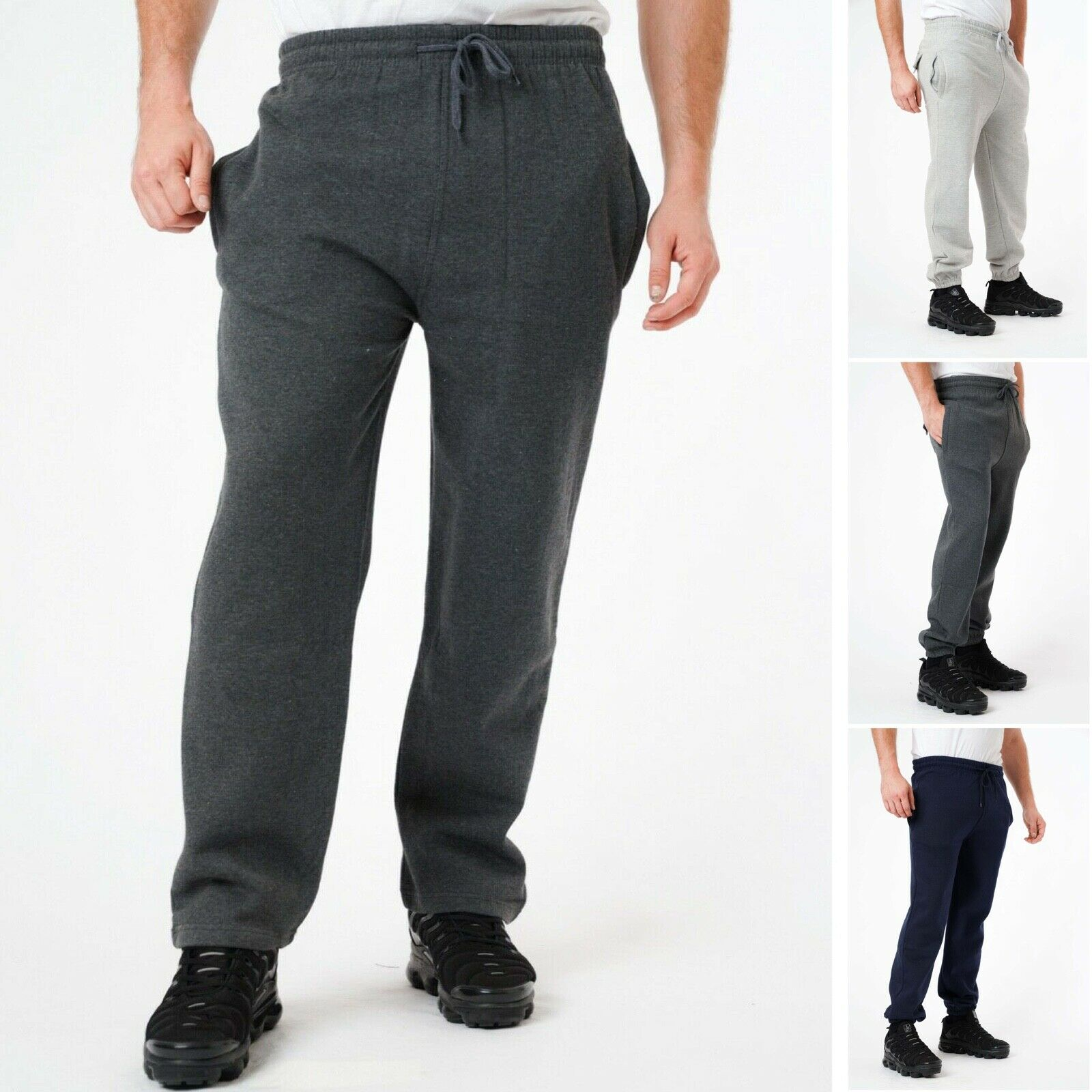 Mens Fleece Joggers 3XL-8XL Plus Size Big Size King Bottoms Plain Pants Trousers