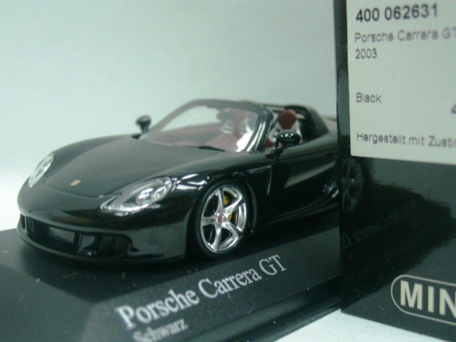 Wow extrêmement rare Porsche Carrera Gt Targa noir 2003 1 43 Minichamps-RSR-Spark