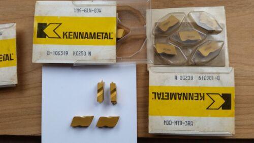 Box of 5 new KENNAMETAL MOD-NTB-3RA Grade KC250 Top Notch Carbide Inserts