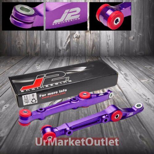J2 Purple Aluminum Front Lower Control Arm Suspension For Honda 92-00 Civic