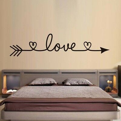 1Pc Fashion LOVE Arrow Wall Sticker Vinyl Text Decals Wall Art Decor Removable