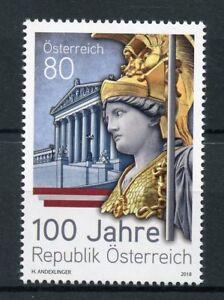 Austria-2018-MNH-Republic-of-Austria-100-Years-1v-Set-Architecture-Stamps