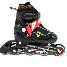 Ferrari Inline Skate verstellbare Kinder Inliner  schwarz rot Gr. 34-37 Abec 5