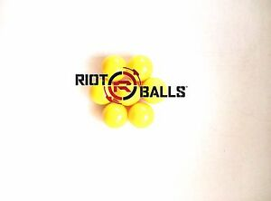 500-X-0-50-Cal-Riot-Balls-Self-Defense-Less-Lethal-Practice-Paintballs-Yellow