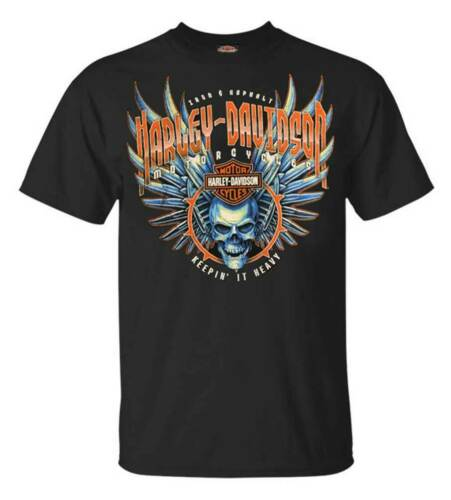 Harley-Davidson Men/'s Keep it lourd tout-en coton à manches courtes T-Shirt-Noir