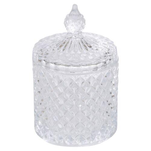 Élégant en verre Alpina Candy Jar décoratif Sweet Récipient avec couvercle 2 Tailles