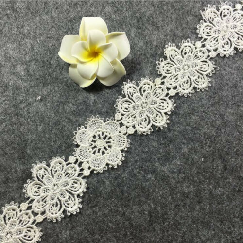 6 Yards mixed Flowers Lace embroidery Decorative Wedding clothing accesories