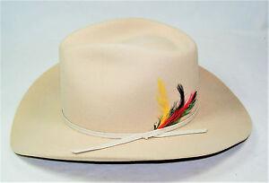 Tan Stetson Western Hat Pony Express Pure Wool USA - New - Batsakes ... 2fee234bdd7