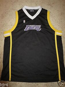 sneakers for cheap 6a6bd d13f9 Details about Los Angeles Lakers Fubu Black Mamba Edition NBA Jersey XL