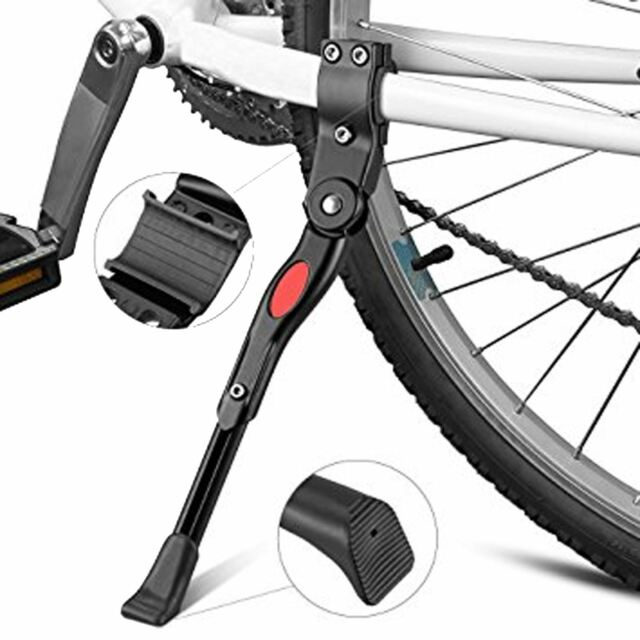 Heavy Duty Mountain Bike Bicycle Cycle Carbon Fiber Prop Side Rear Kick Stand