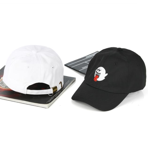 4ff177dd Men Womens Bryson Tiller Boo Ghost Strapback Baseball Caps Dad Hat White  black