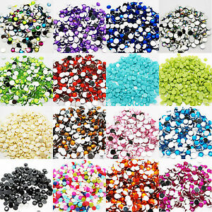 1000-Rhinestones-Crystal-Flat-Back-Acrylic-Gems-2mm-Diamond-Bling-Decoration