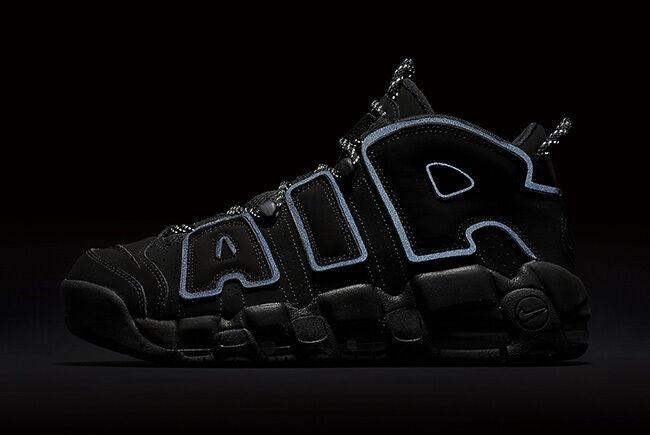 save off f27e3 c2a44 ... Nike Air more Uptempo NEGRO 3M cómodo cómodo cómodo barato y hermoso  moda 6bb9cd