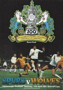 Image Is Loading 1981 FA CUP SEMI FINAL TOTTENHAM HOTSPUR V