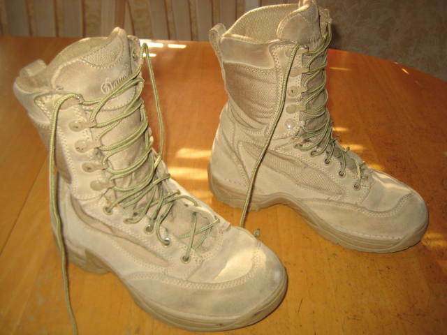 """DANNER Desert TFX Rough-Out 8"""" Tan Leather Boots - Mens Sz 6.5 Military"""