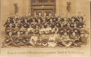RPPC-Monfried-039-s-Correspondence-School-of-Violin-Students-NY-ca-1910s-Postcard
