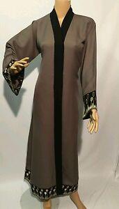 Femme-Bout-Ouvert-Abayas-saudi-Arabia-Dubai-Abaya-linen-Matiere-Taille-52-54