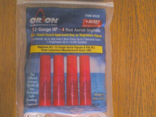 FLARE GUN FLARES  NEW  12 GUAGE  EXPIRES  2022   NEW   $28