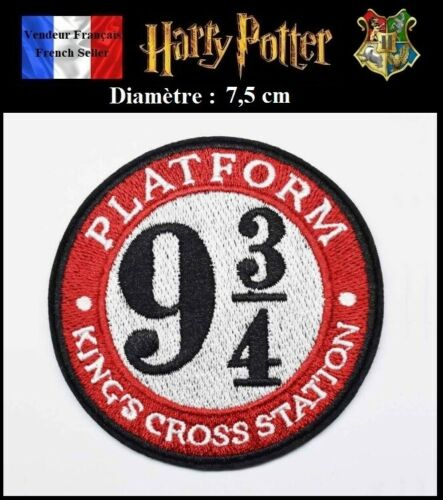 Patch Embroidered Harry Potter Platform 9 3//4 Écusson Brodé Thermocollant NEUF