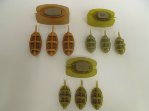 30g /& 20g 40g 12 x Inline Flat Method Feeders /& 3 x Moulds 4 of each feeder