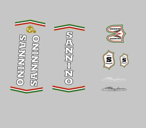 Sannino Bicycle Frame Decals Transfers Stickers n.110